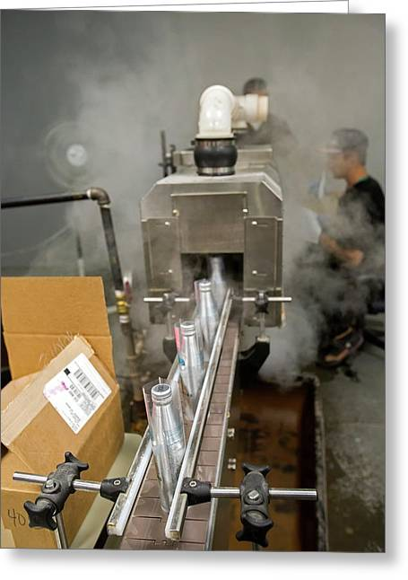 Marijuana Products Factory Greeting Card by Jim West