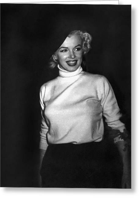 Marilyn Monroe In Korea Greeting Card by Underwood Archives