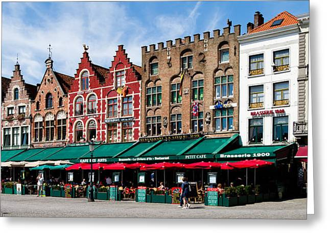 Market At A Town Square, Bruges, West Greeting Card