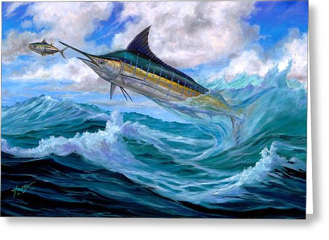 Marlin Low-flying Greeting Card