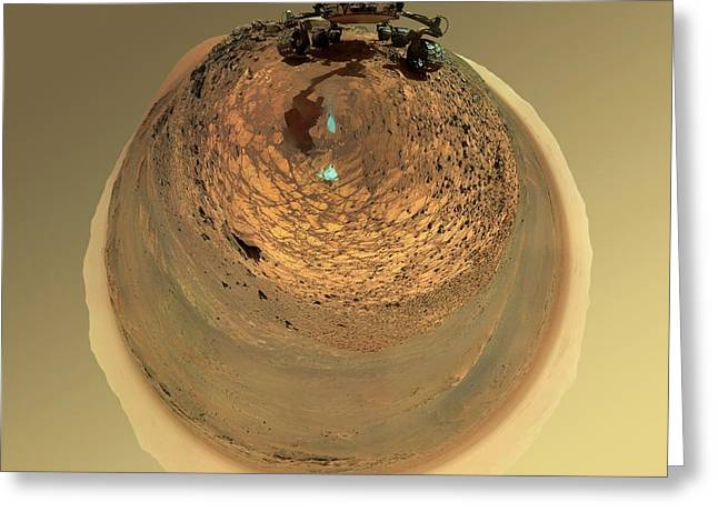 Mars Curiosity Rover Self-portrait Greeting Card