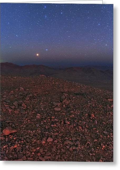 Mars In Opposition Greeting Card by Babak Tafreshi