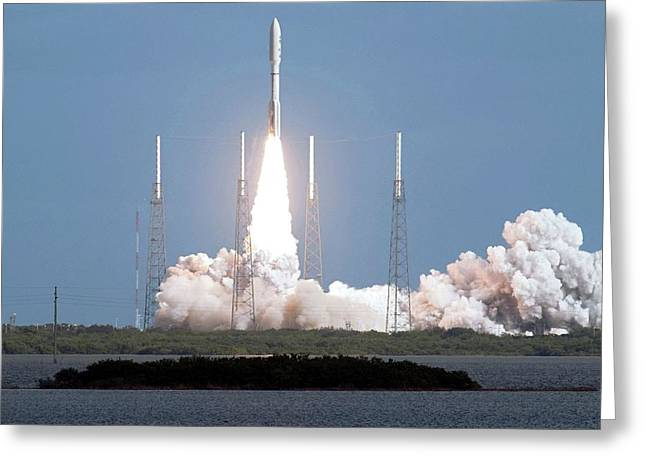 Mars Science Laboratory Spacecraft Launch Greeting Card by Nasa