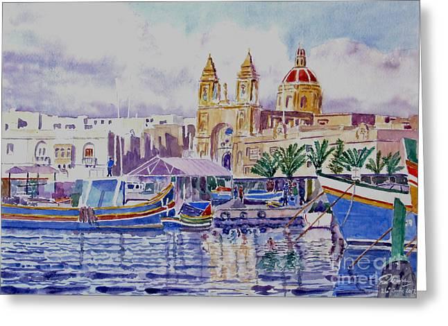 Marsaxlokk Malta Greeting Card