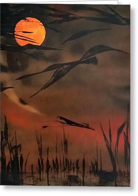 Marsh Birds Greeting Card