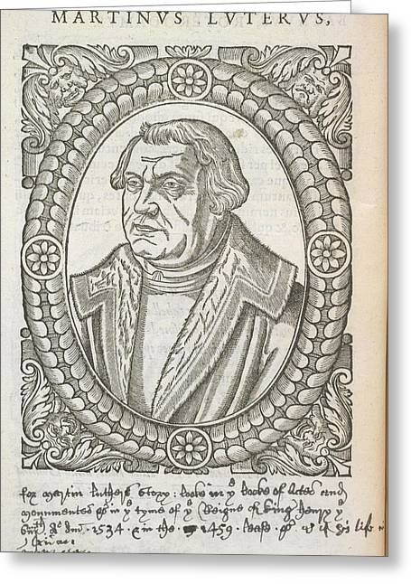 Martin Luther Greeting Card by British Library