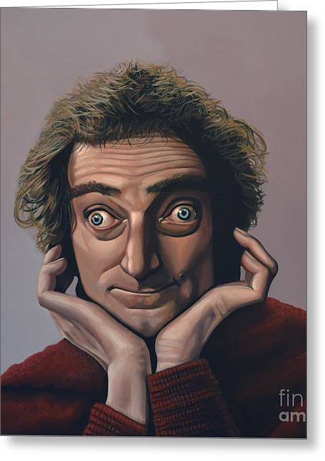Marty Feldman Greeting Card by Paul Meijering