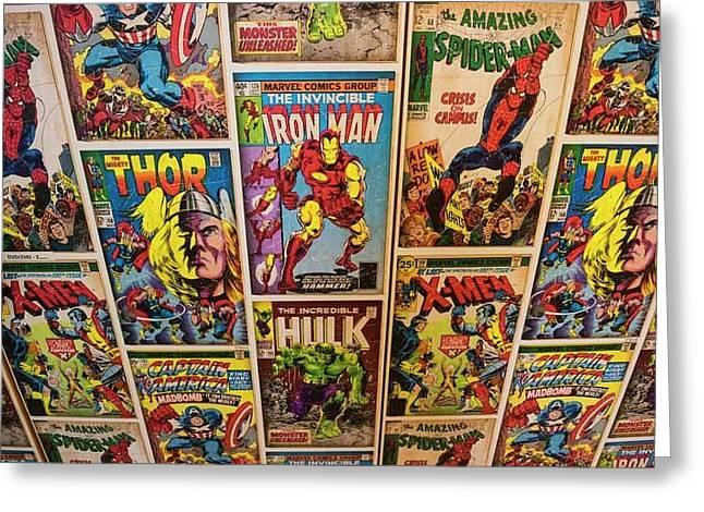 Marvel Comics Heroes Greeting Card