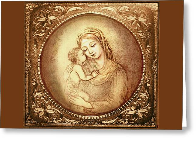 Mary And Jesus Greeting Card