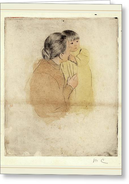Mary Cassatt, Peasant Mother And Child, American Greeting Card by Litz Collection