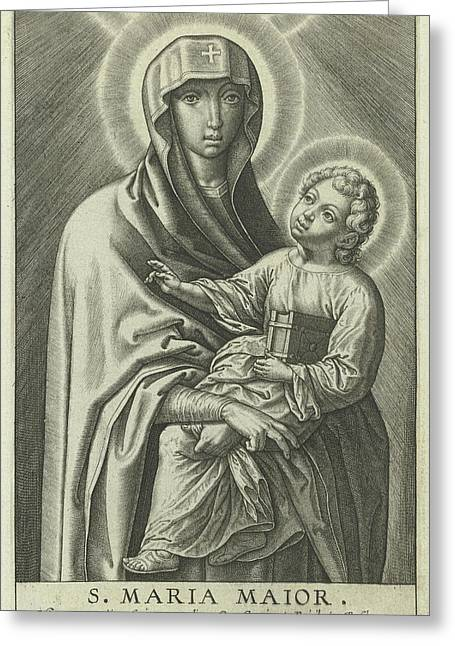 Mary With The Christ Child, Hieronymus Wierix Greeting Card
