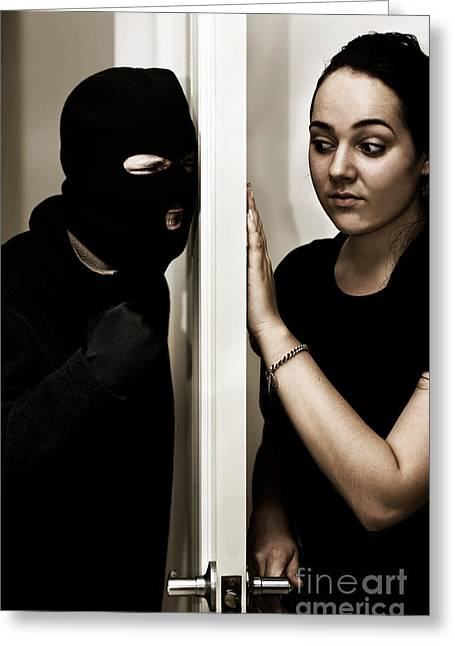 Masked Intruder Greeting Card