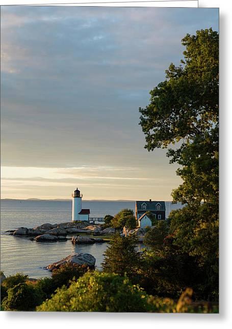 Massachusetts, Gloucester, Annisquam Greeting Card by Walter Bibikow