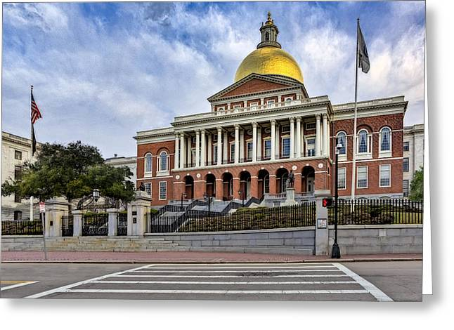 Massachusetts State House Greeting Card by Susan Candelario