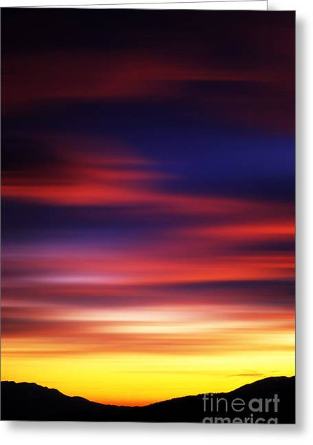 Massif Of Sancy At Sunset Greeting Card by Bernard Jaubert