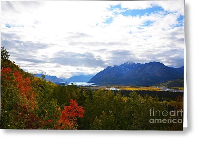 Greeting Card featuring the photograph Matanuska Glacier by Kate Avery