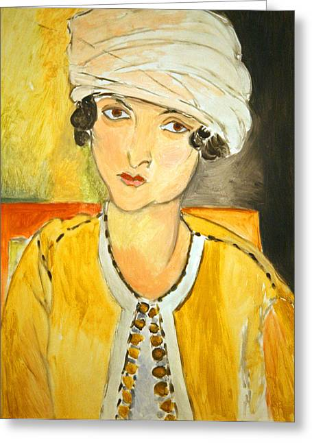 Matisse's Lorette With Turban And Yellow Jacket Greeting Card