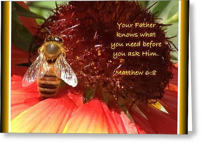 Matthew 6 8 Greeting Card