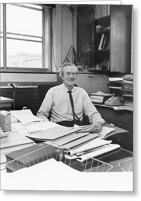 Maurice Wilkins Greeting Card by King's College London Archives