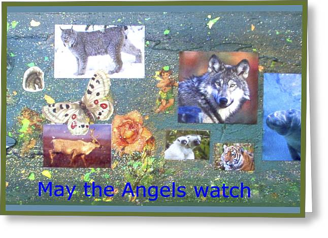 May The Angels Watch Greeting Card