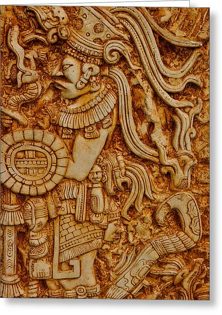 Mayan Indian Warrior Greeting Card