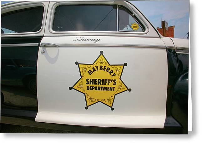 Mayberry Sheriffs Department Police Car Greeting Card