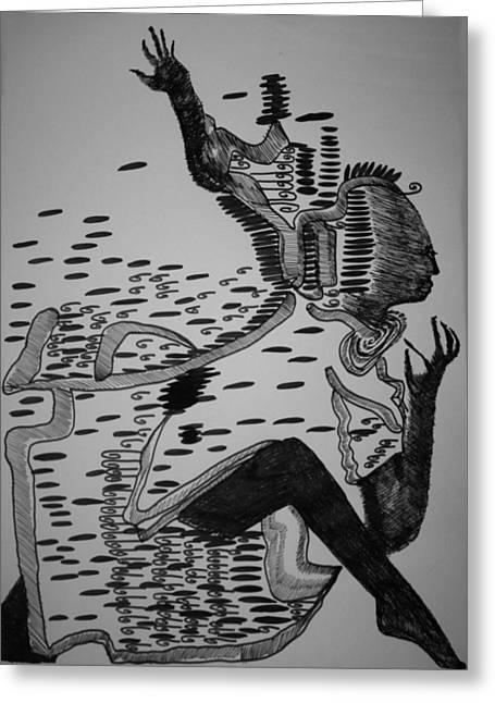 Mbakumba Dance - Zimbabwe Greeting Card by Gloria Ssali