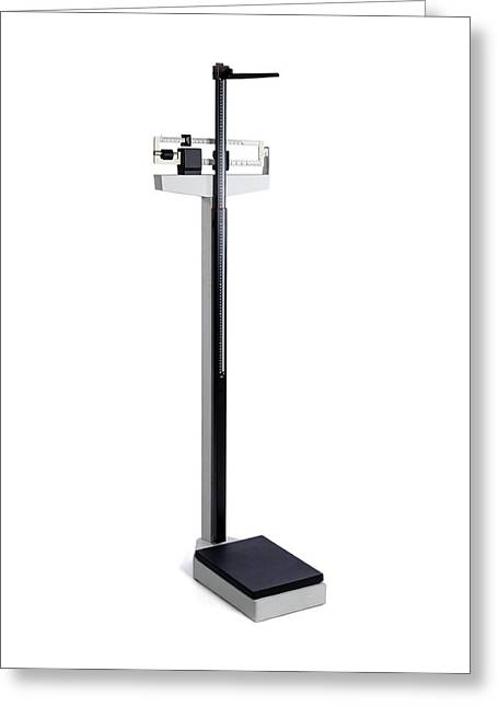 Medical Column Scales Greeting Card by Science Photo Library