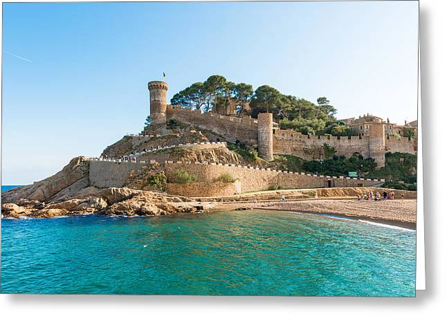 Medieval Castle In Tossa De Mar Spain Greeting Card