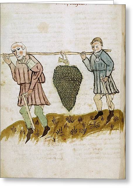 Medieval Farm Workers Greeting Card