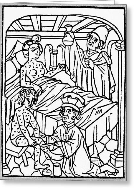 Medieval Syphilis, 1497 Greeting Card