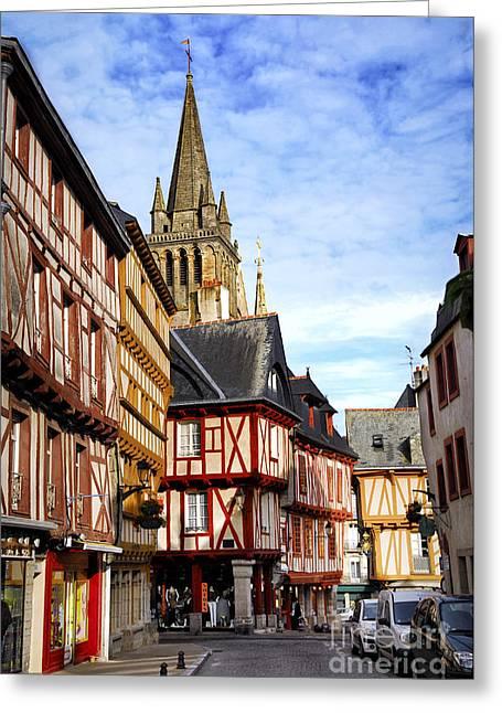Medieval Vannes France Greeting Card by Elena Elisseeva