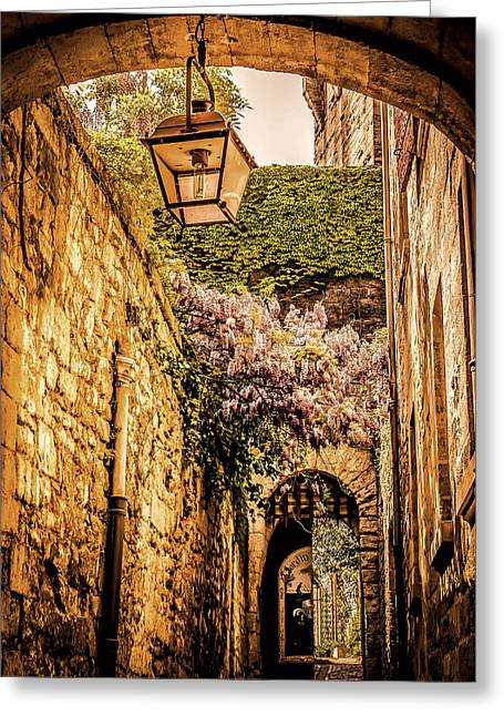 Medieval Village In The South Of France Greeting Card by Catherine Arnas