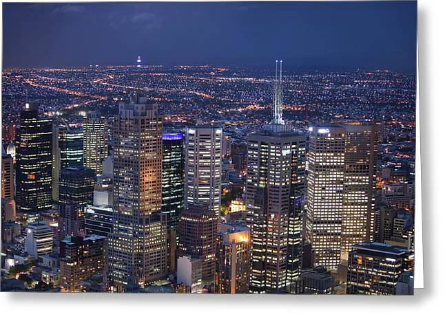 Melbourne Greeting Card by Ashley Cooper