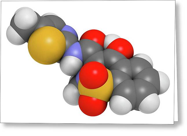 Meloxicam Nsaid Drug Molecule Greeting Card