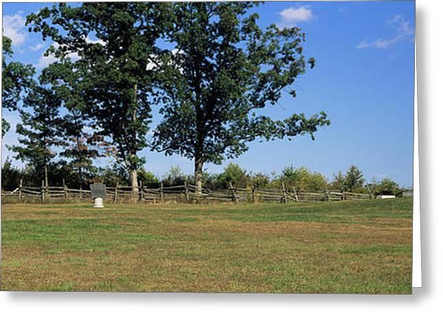 Memorial At Gettysburg National Greeting Card by Panoramic Images
