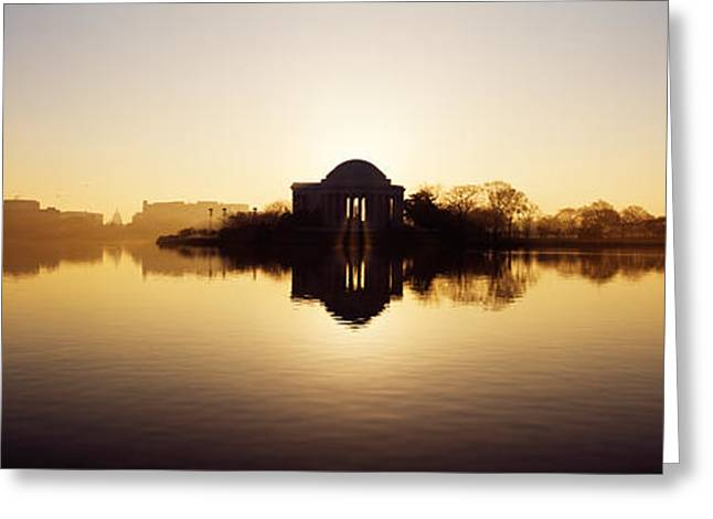 Memorial At The Waterfront, Jefferson Greeting Card by Panoramic Images