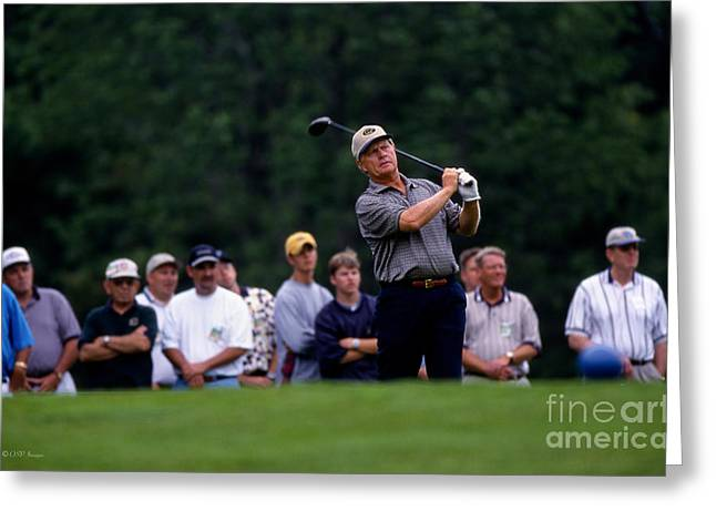 12w334 Jack Nicklaus At The Memorial Tournament Photo Greeting Card