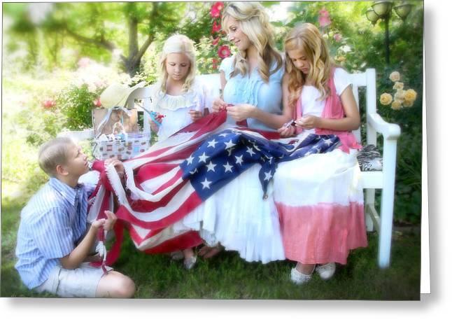 Mending Liberty Greeting Card