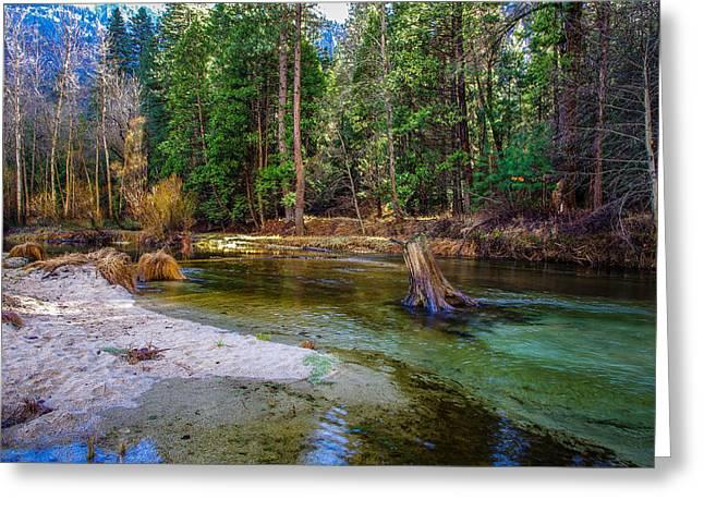 Merced River Yosemite National Park Greeting Card