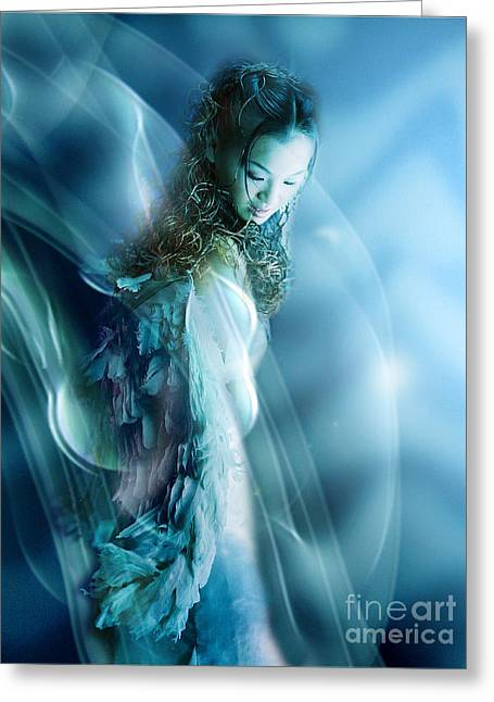 Mermaid Greeting Card by VIAINA Visual Artist