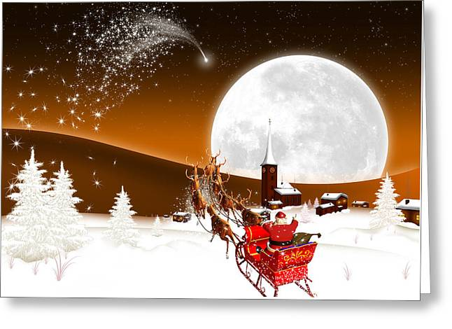 Merry Christmas Greeting Card by Doc Braham