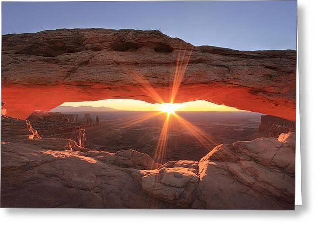 Mesa Arch Greeting Card by Darryl Wilkinson