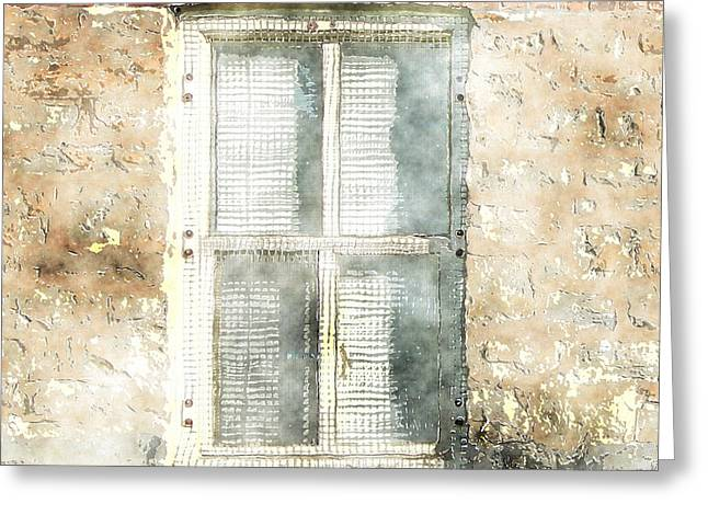 Mesh Window Greeting Card by The Art of Marsha Charlebois