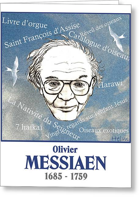 Messiaen Greeting Card by Paul Helm