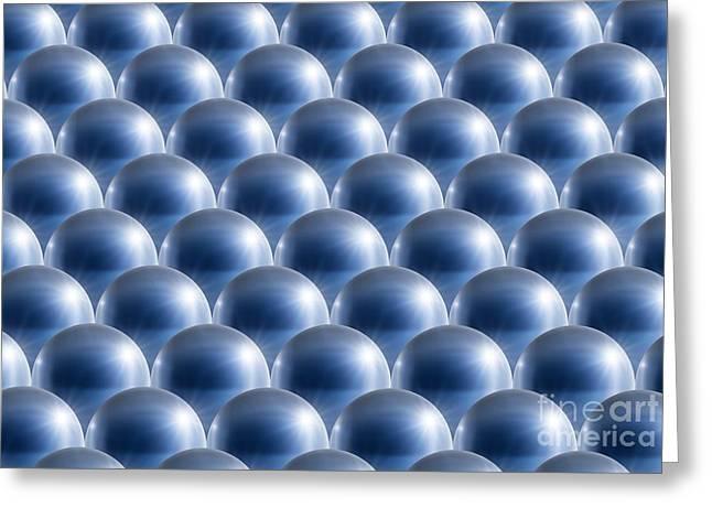 Metal Spheres, Abstract Artwork Greeting Card by Detlev van Ravenswaay