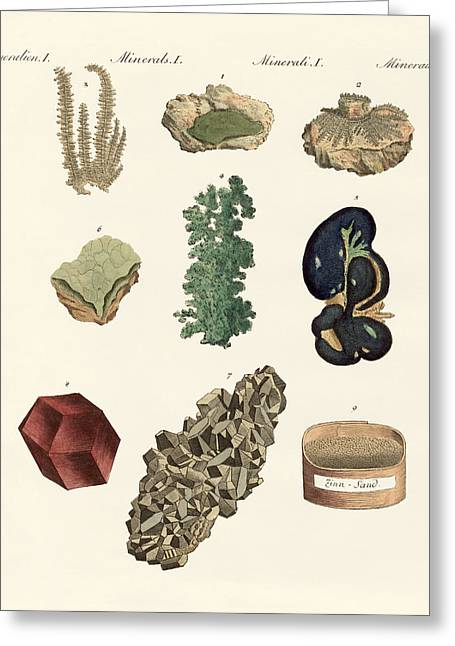 Metals Greeting Card by Splendid Art Prints