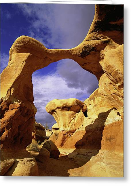 Metate Arch Stands Guard In Devil's Greeting Card