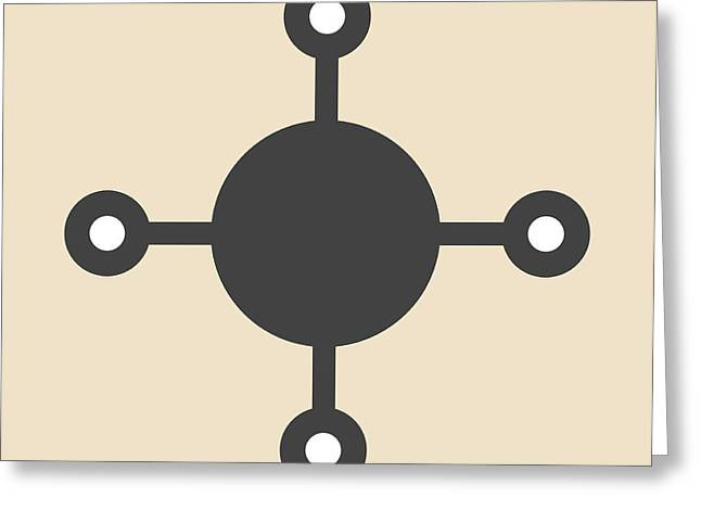 Methane Natural Gas Molecule Greeting Card
