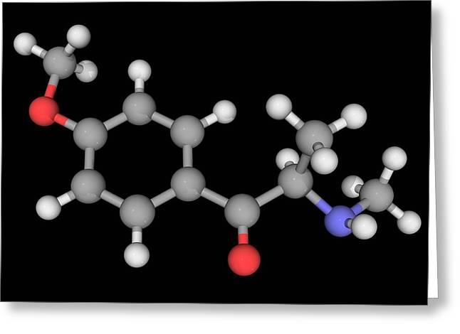 Methedrone Drug Molecule Greeting Card by Laguna Design/science Photo Library